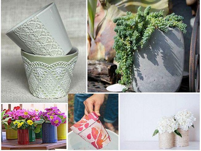 7 Ідей, як зробити оригінальні горщики для квітів