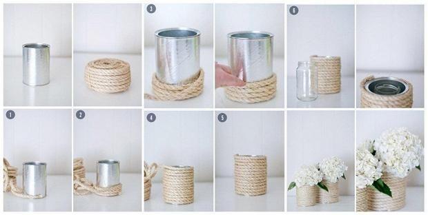 Горщики для квітів з мотузки