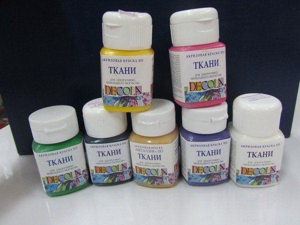 Акрилові фарби для тканини: покроковий опис використання на прикладі майстер класу малювання на футболці