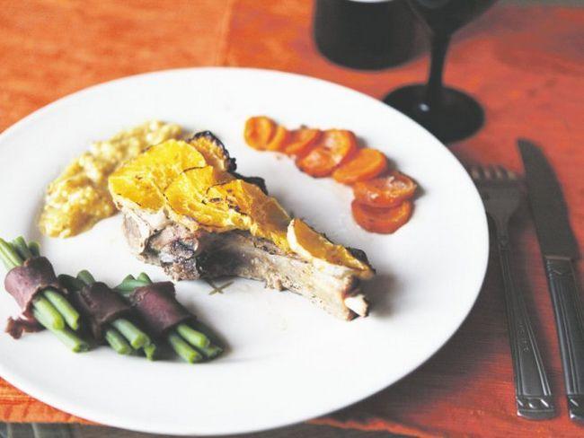Ароматне м`ясо по-сицилійський в апельсиновому соусі