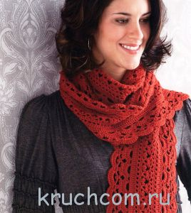 Ажурний шарф гачком: схеми з описами техніки виконання візерунків, а також поради з в`язання різних видів шарфів