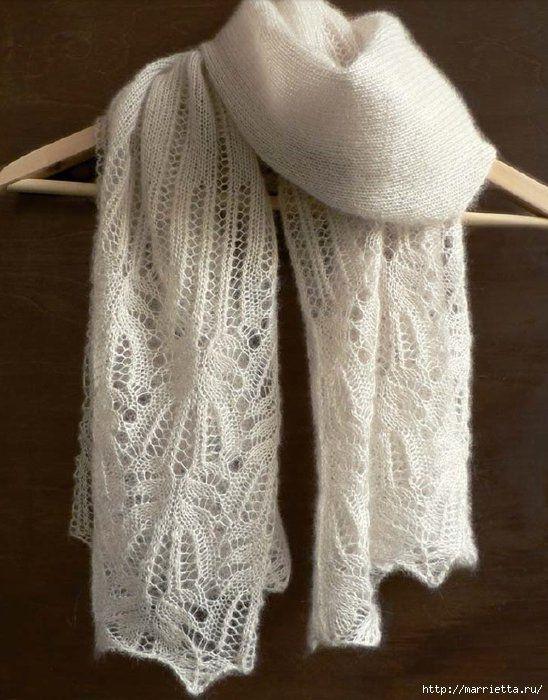 Ажурний шарф спицями: схеми і візерунки для початківців, а також корисні поради щодо вибору пряжі і візерунка для вироби з фотографіями і відео