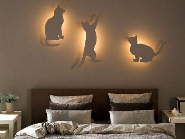 Бра для любителів кішок - покроковий майстер-клас