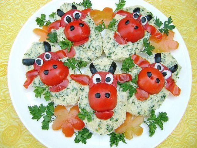 Бутерброди для дітей «веселі корівки»