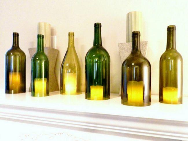 Що можна зробити зі скляних пляшок своїми руками (9 ідей)