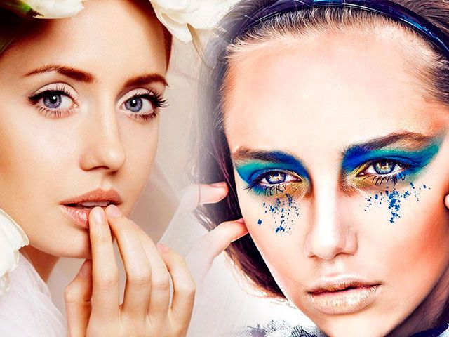Денний та вечірній макіяж для блакитних очей