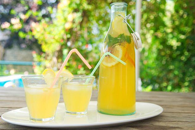 Холодний чай з лимоном і апельсином