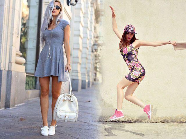 Як носити плаття з кедами фото 2016-2017
