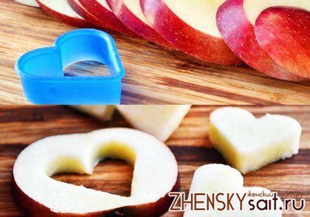 фігурна нарізка яблук для пирога