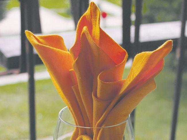 Як зробити квітка ірис з серветки?