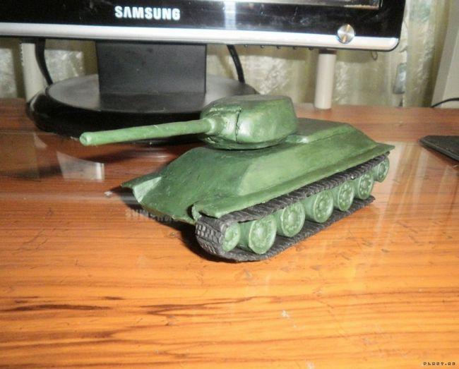Як зробити танк т-34 з пластиліну та інші моделі гусеничних бронемашин своїми руками