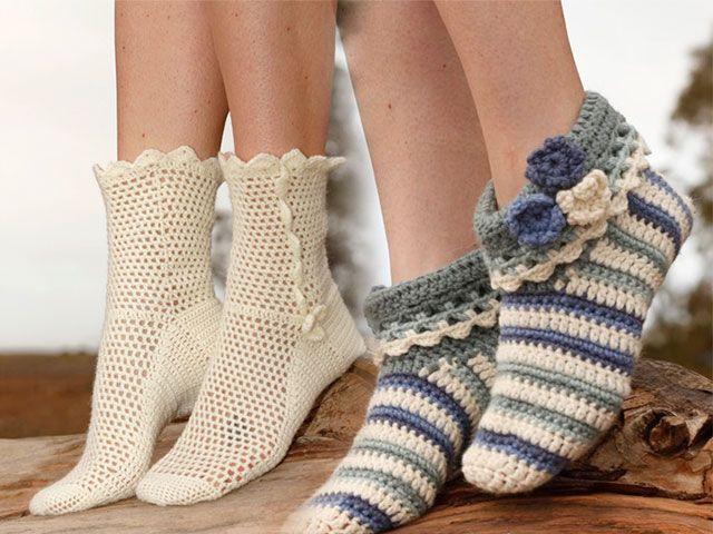 Як зв`язати шкарпетки гачком своїми руками