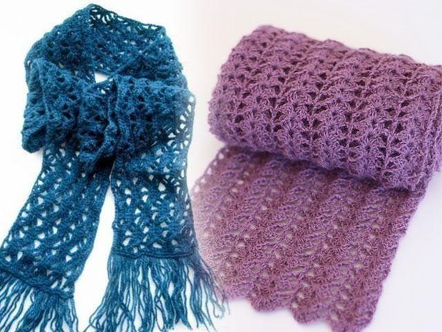 Як зв`язати шарф ажурний гачком схеми і опис