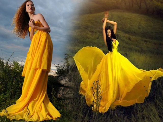 Як вибрати жовта сукня і з чим його носити - фото жовтих суконь