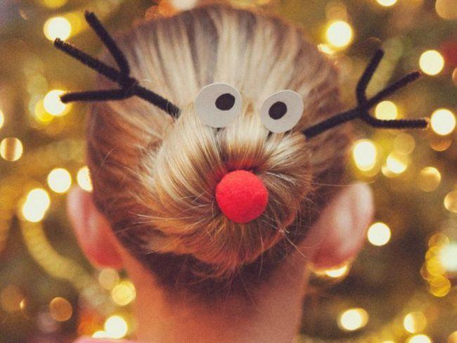 новорічну зачіски