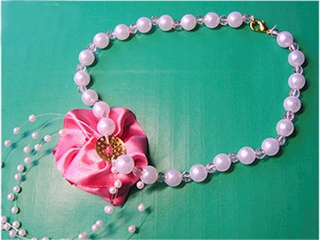 Кольє «троянда» для дівчинки - майстер-клас (фото)