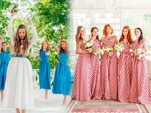 Красиві модні сукні подружок нареченої