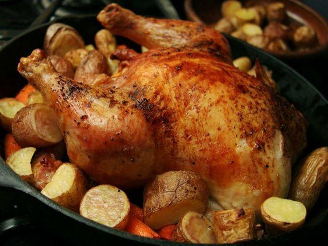 Курка, фарширована желудочками, - недороге і смачне блюдо