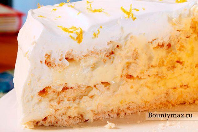 Лимонний торт безе
