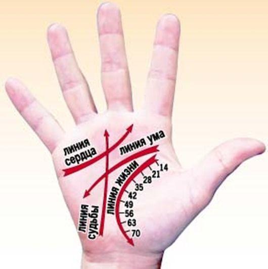 Лінії на руці в хіромантії