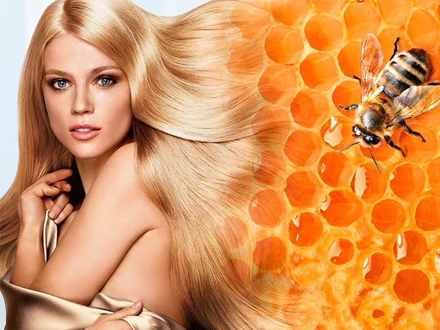 Маска для зміцнення і зростання волосся з медом