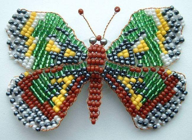 Майстер-клас з бісероплетіння метелики: необхідні матеріали. Техніка плетіння і докладний опис роботи з фотографіями і відео