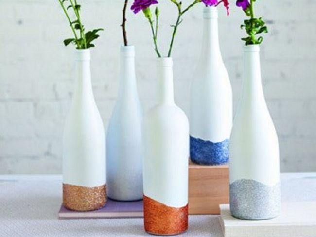 Майстер-клас зі створення вази для квітів зі скляної пляшки