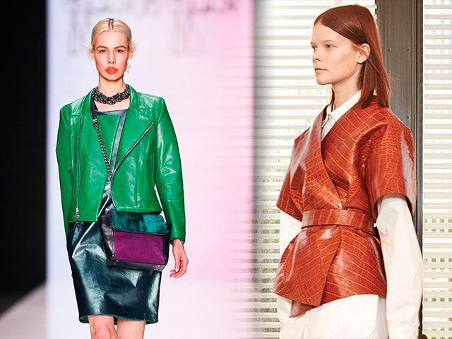 Модна шкіряна куртка жіноча