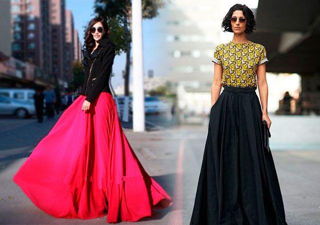 Модні довгі спідниці в підлогу тенденції 2016
