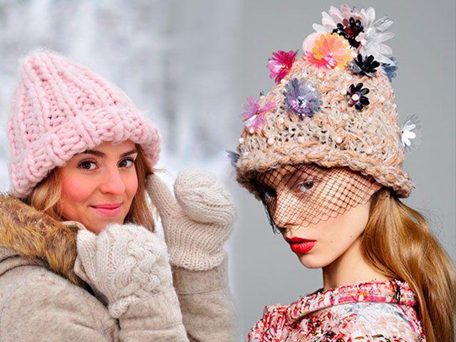 Модні в`язані шапки осінь-зима 2015-2016 фото