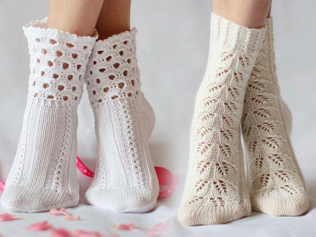 Шкарпетки спицями схеми з описом