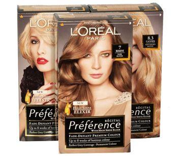 Палітра фарби для волосся лореаль