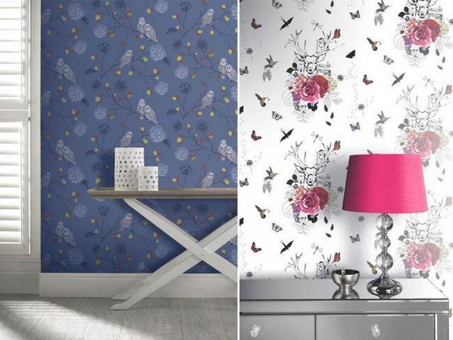Підбираємо ефектні шпалери з анімалістичні і квітковими мотивами