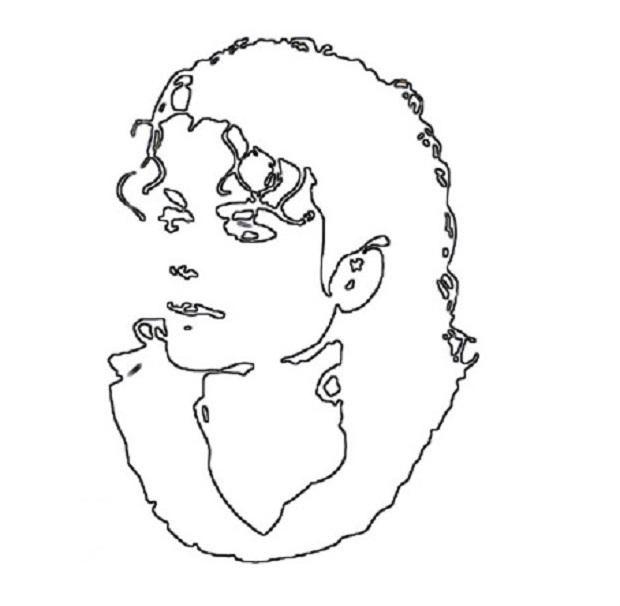 Ескіз для портрета Майкла Джексона