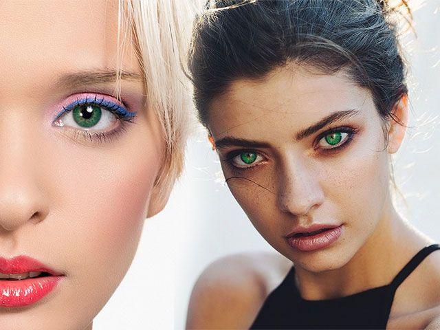 Повсякденний та вечірній макіяж зелених очей