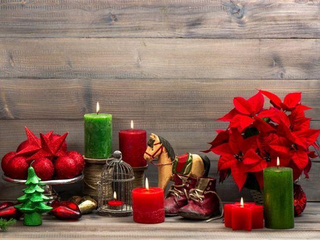 Святкові декорації з різдвяної зірки