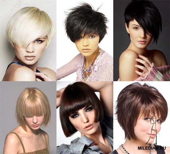 Короткі стрижки для густого волосся