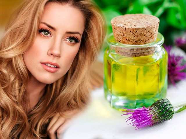 Реп`яхову олію від випадіння та для росту волосся