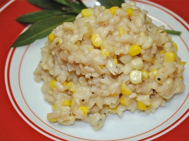 Різотто з куркою і кукурудзою