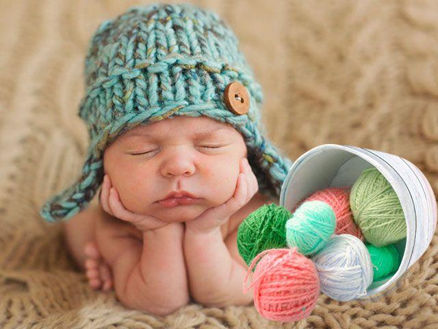 Шапочка гачком для новонародженого зі схемами та описом