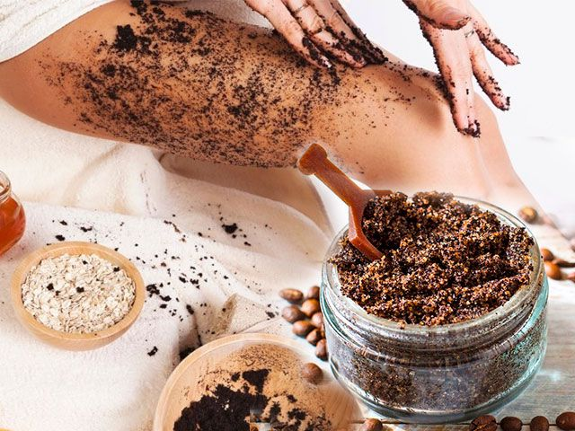 Скраб з кавової гущі у домашніх умовах