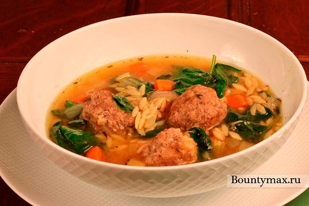 Суп з яловичими фрикадельками