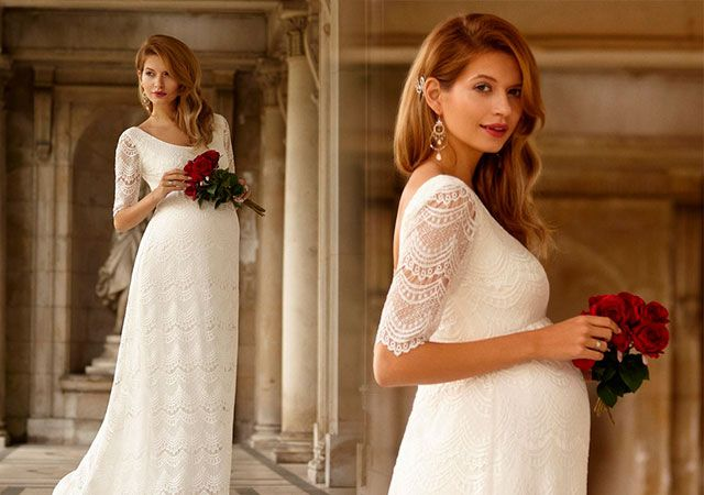 Весільні сукні для вагітних фото