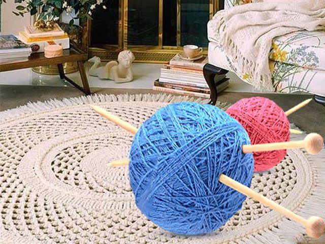 Зв`язати килимок спицями креативно і не складно для початківців