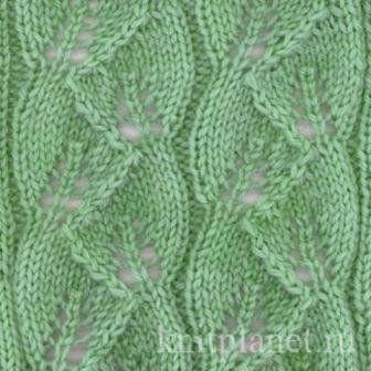 Візерунок листя спицями: схеми в`язання з описом і фото-прикладами