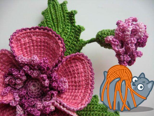 В`язані квіти гачком схеми з описом - як зв`язати квітка